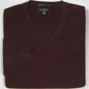CLUB ROOM ~ 100% Cashmere V Neck Sweater ~ Men's